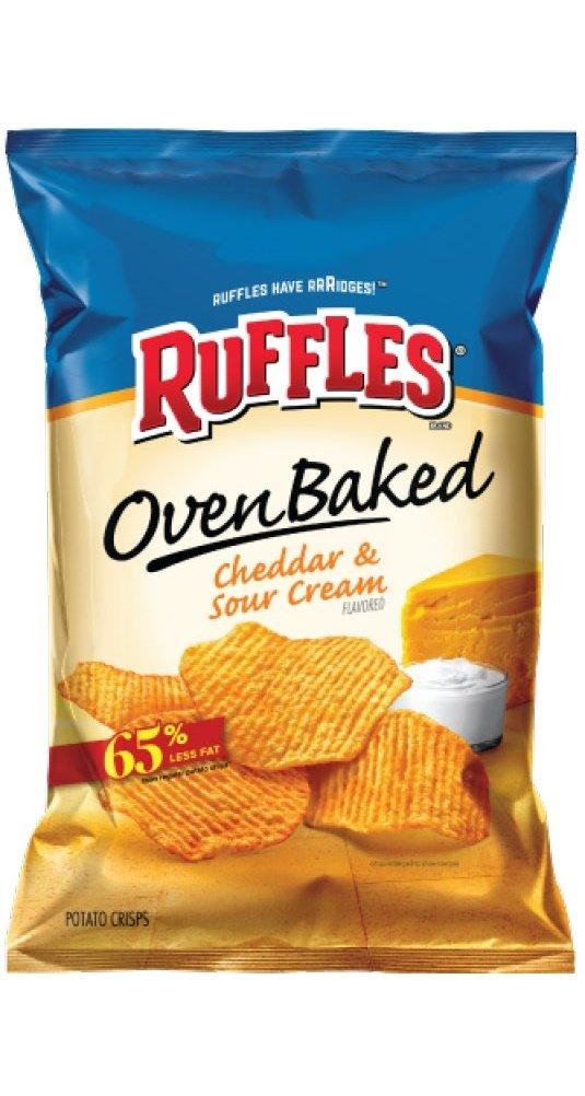 Ruffles Oven Baked Potato Crisps, Cheddar & Sour Cream, 1.125 oz