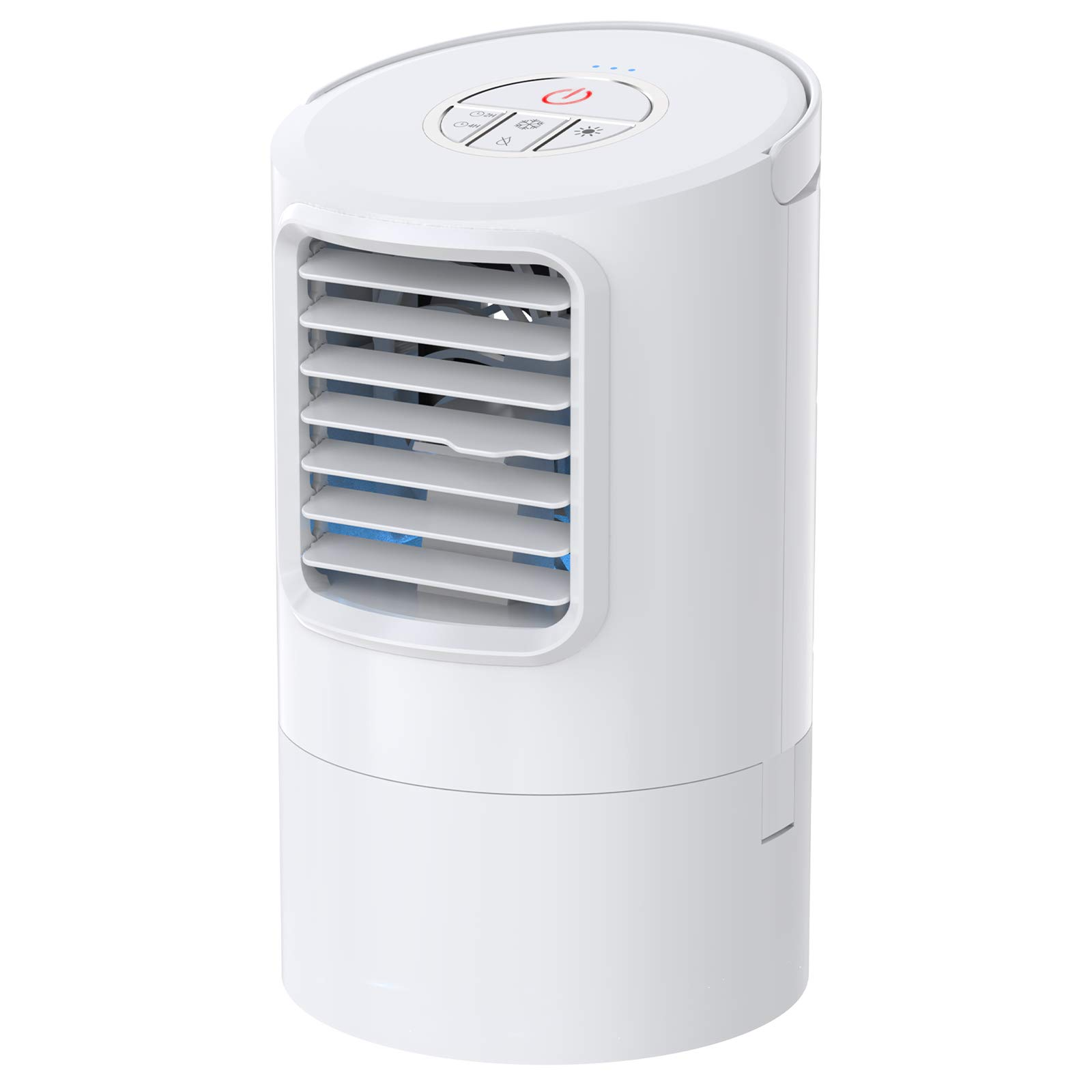 Personal Air Conditioner Fan, Portable Air Cooler, Mini Air Conditioner Evaporative Cooler For Desk Top With 2H/4H Timer, Adjustable 3 Speeds Misting Personal Space Cooler For Home, Office…