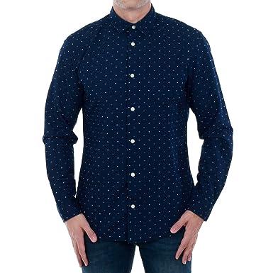 6c1a49d77a Jack   Jones Shirt Men XXL Long Sleeve Navy Blue 12128410 JORELIAS Shirt LS  Dark Blue