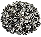 Wallystone Gems 1/8 lb Rare Natural Shungite Chips ELITE Noble Solid Crystals (5-10 mm) per One Crystal For the Accelerated Mineralization of Water