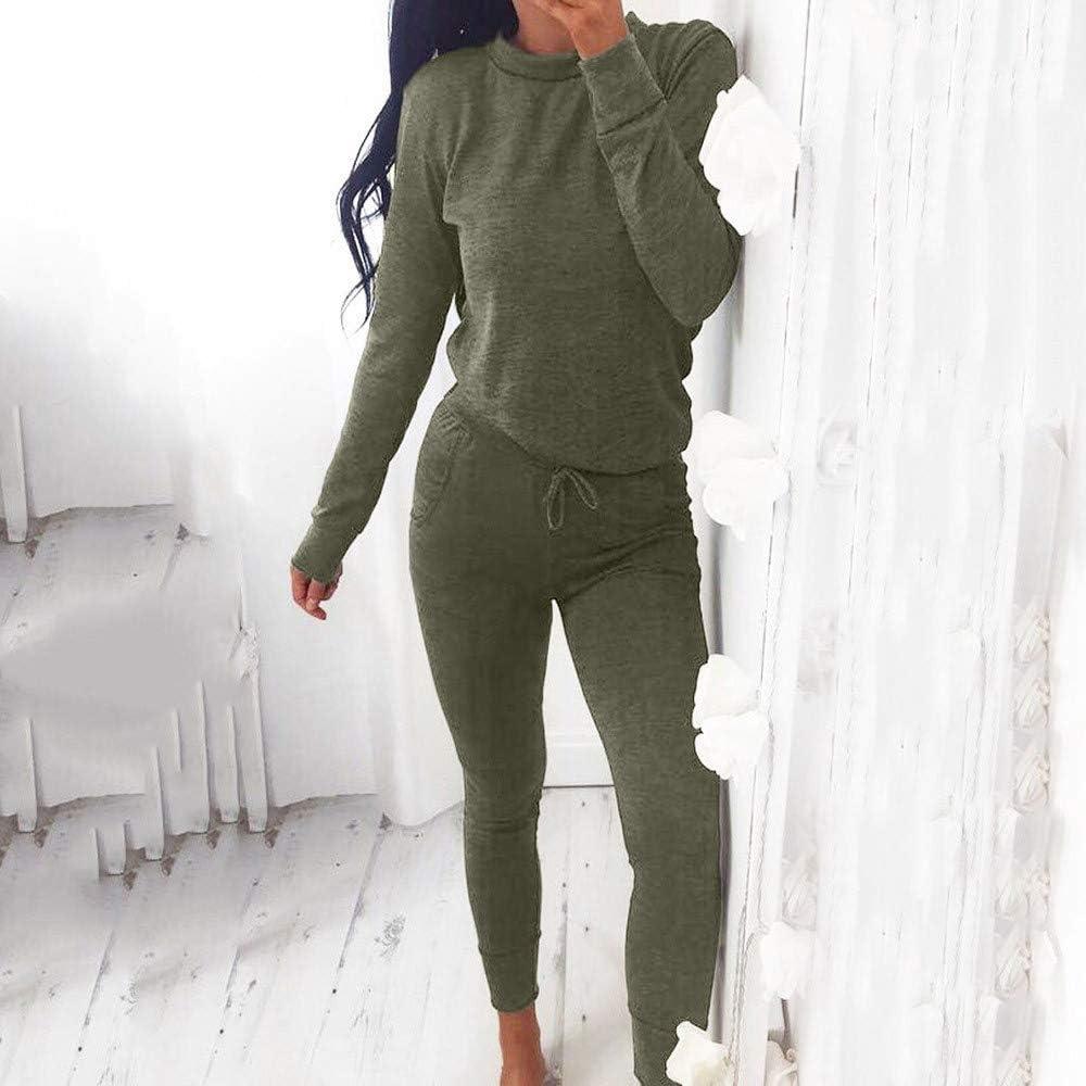 Tuta Donna Sportiva Abbigliamento Felpa Jogging Fitness Manica Lunga Pullover Tuta Ginnastica Autunno /Donne 2 PCS Tute Set Ladies Joggers Active Sport Blouse Tops Pantaloni Set