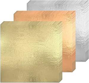 Gold Leaf Sheets 300 Imitation Gold Leaf Silver Leaf Rose Gold Leaf for Gilding Crafting, DIY Arts Project Crafting Decoration,Cake Decorating, Makeup Health & Spa, 16x16cm (3 Color)