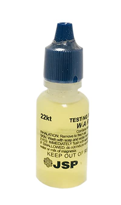 1 Bottle 22K Gold Metal Test Acid Karat Testing Liquid Solution Jewelry Testers