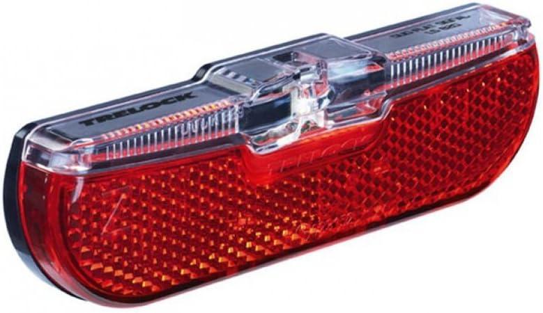Trelock Led Rücklicht Gepäckträger Montage 50mm,LS 613 Duo Flat