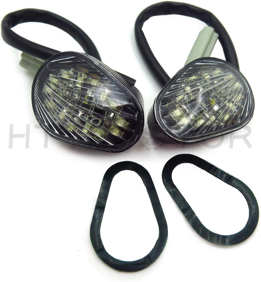 HTTMT MT224-004-SK Smoke Led Flush Mount Turn Signal Compatible with Yamaha Yzfr6 2003-2005 R6S 2006-2007