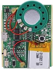 Denash Chip de módulo de grabación de Voz de Sonido de música USB 1W con batería de Litio Recargable(Botón de Control)