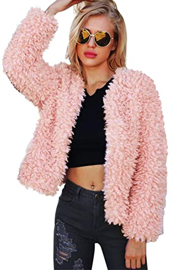 Ceanfly Aceshin Damen Winter Wollmantel schwarz Revers Parka Trenchcoat Mantel Cardigan Plüschjacke Winter Jacke Outwear