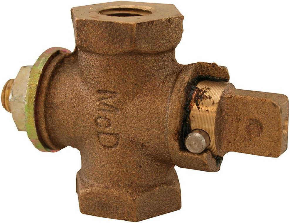 Jones Stephens Corp 1-1//4 Fip Flat//Tee Hd Gas Stop W//Check