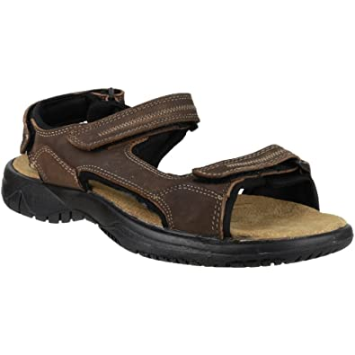 7afa04d913ce9 Cotswold Ladies Cowley Sporty Leather Ankle Strap Walking Sandal Brown:  Amazon.co.uk: Shoes & Bags