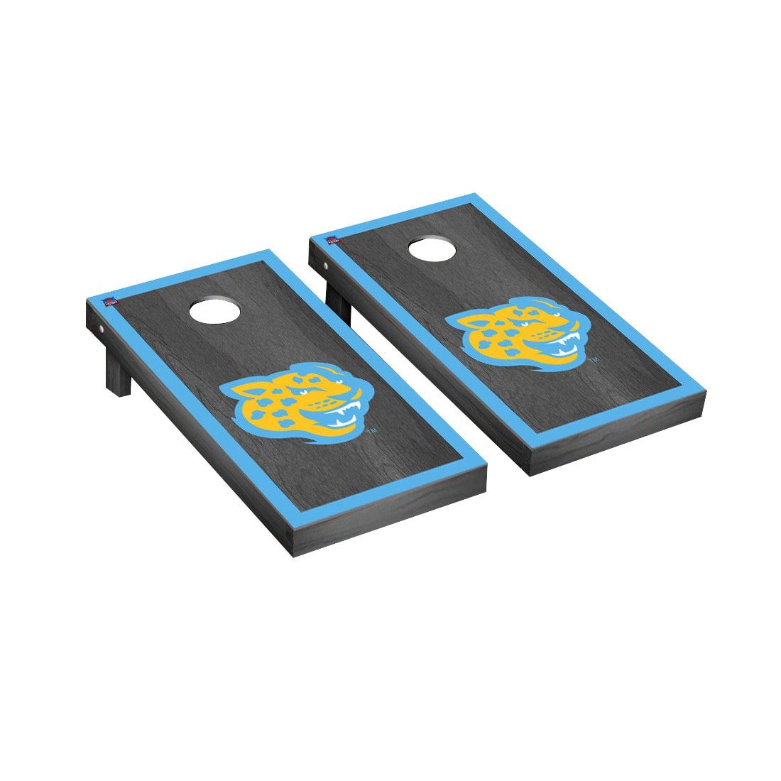 Southern Jaguars Cornhole Game SetオニキスStained Borderバージョン B014RZM5DS
