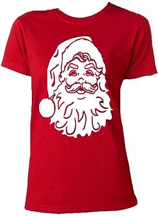 Custom Kingdom Womens Santa Claus Ladies Christmas T-Shirt