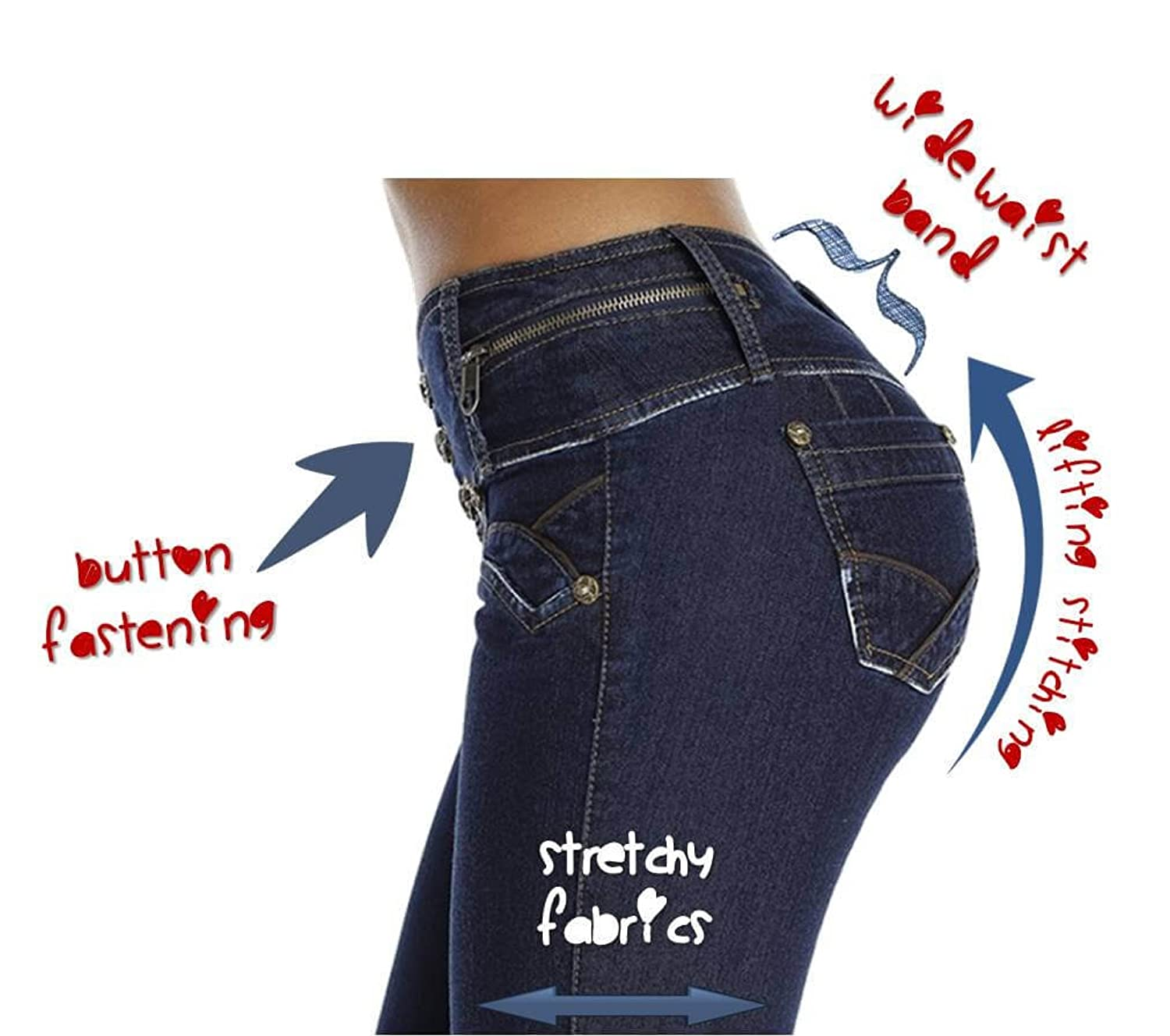 High Waist Butt lifter Jeans, levantacola