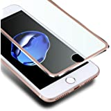 iPhone8 フィルム 3D 全面 iphone7 ガラスフィルム VIUME iphone 8 保護フィルム iphone 7 強化ガラスフィルム 曲面デザイン 3Dラウンドエッジ加工 99%透過率 光沢 耐衝撃 アイフォン7 / 8用 - 4.7インチ(ローズゴールド)