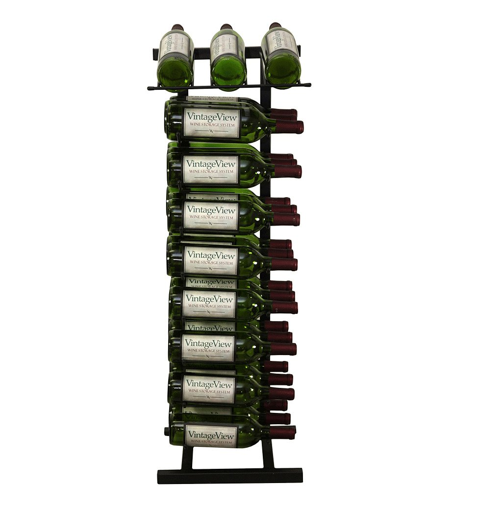 Vintage View 27 Bottle Point of Purchase Wine Rack (Black)
