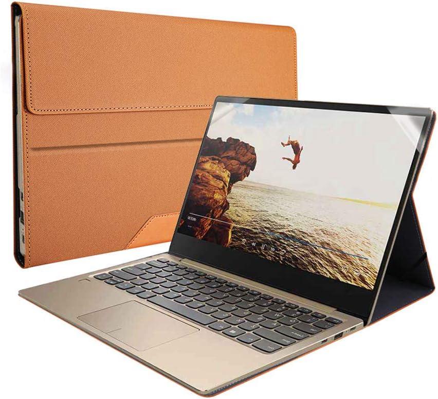 Heycase Compatible for Lenovo ThinkPad X1 Carbon Case Cover 8th Gen & 7th Gen & 6th Gen & 5th Gen Laptop 14 Inch (NOT FIT 1st Gen/2nd Gen/3rd Gen/4th Gen), PU Leather Folio Stand Case,Brown