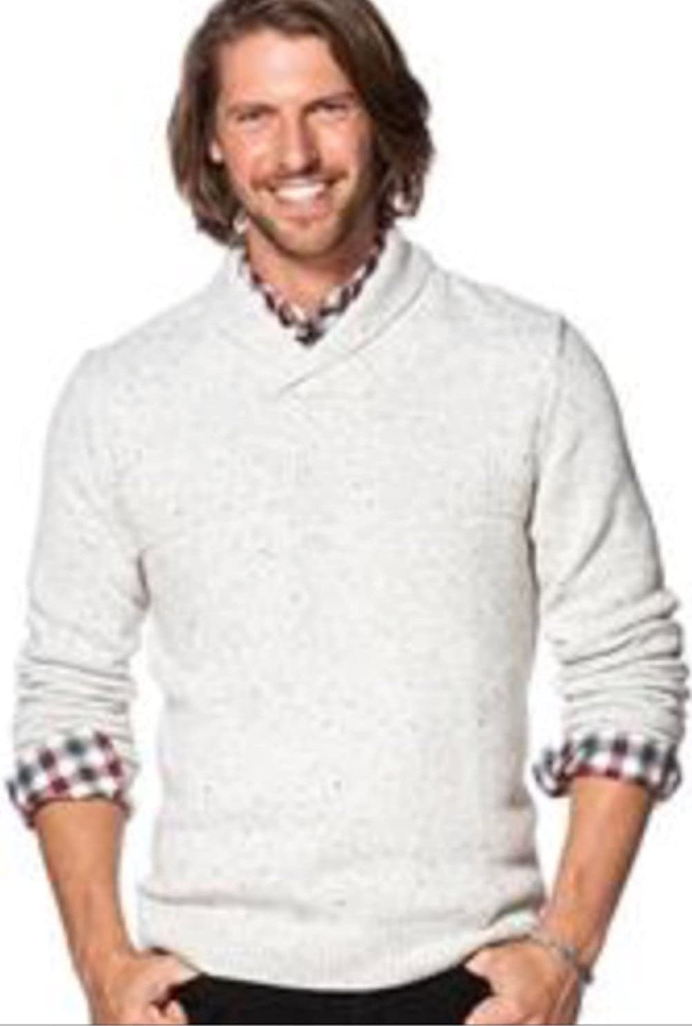 4f9c279ac Chaps Men s Donegal Classic Fit Textured Shawl Collar Sweater