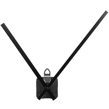 Movimiento de Reloj de Cuarzo de Par Alto Motor de Mecanismo con Agujas Rectas Largas de 250 mm/ 9,8 pulgadas (Negro): Amazon.es: Hogar