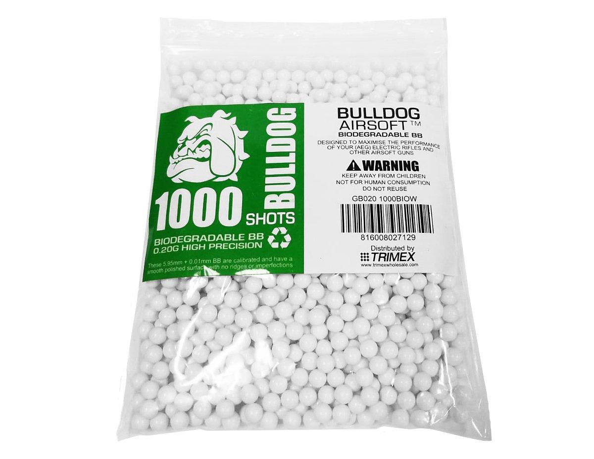 Bulldog Airsoft BBS Biodegradable [6mm White] Triple Polished [Pro Team Grade]