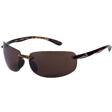 120e127d0eb Lovin Maui Sport Wrap Unisex Polarized Sunglasses - Lightweight TR90 Frames  - Brown -: Amazon.co.uk: Clothing