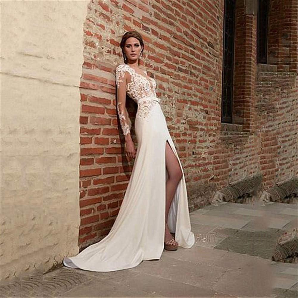 Hochzeitskleid für Damen Luxus mit V-Ausschnitt Tüll Organza