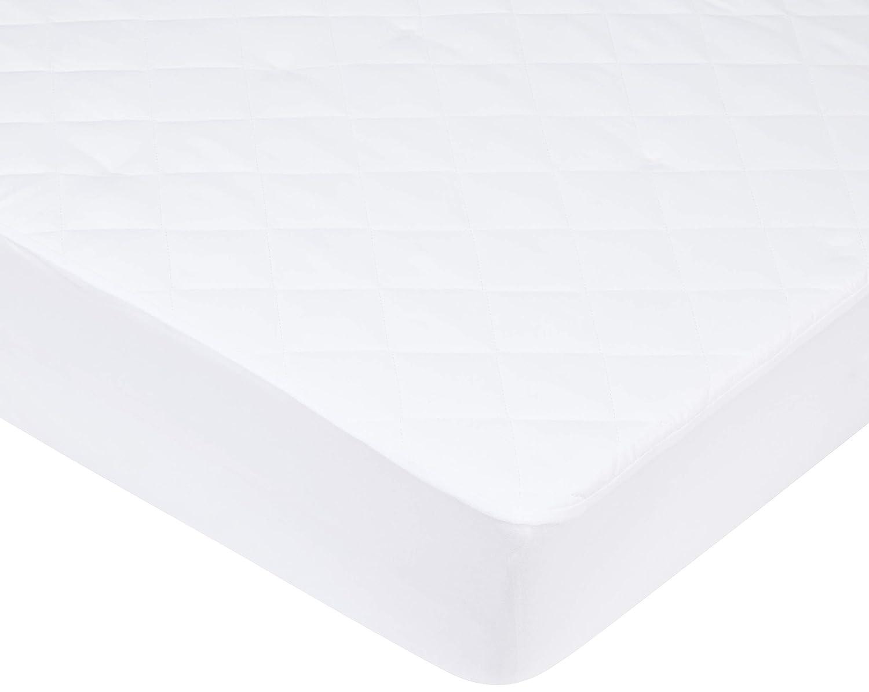 Pikolin Home - Protector de colchón acolchado cubre colchón de fibra antiácaros, transpirable, 120 x 190/200 cm, cama 120 (Todas las medidas): Amazon.es: ...