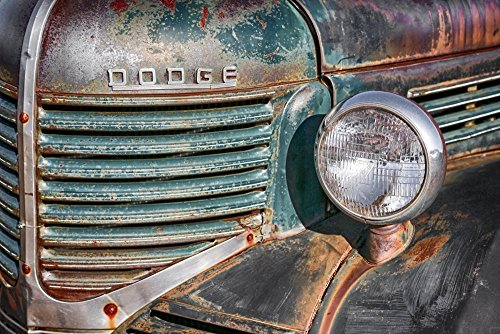 - 1940s Dodge Ram Vintage Truck Photo Country Home Décor Rustic Wall Art Gift for Dad Boyfriend Gift Men's Gift Man Cave Wall Art Man Cave Wall Art Garage Art
