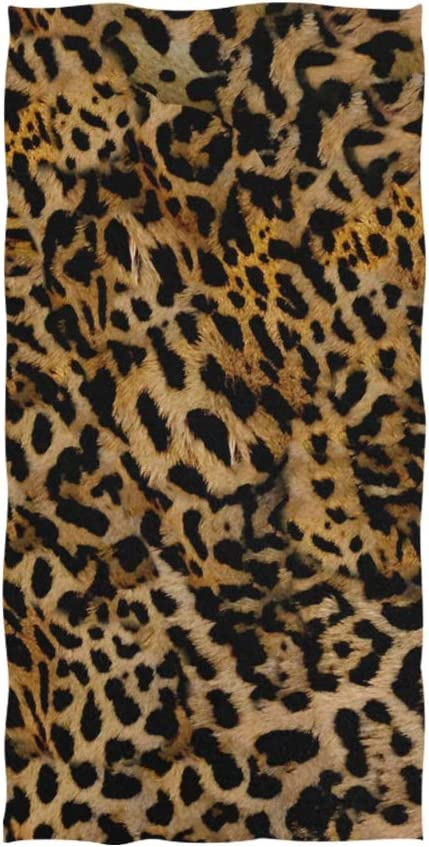 New Leopard Bath Towels Set Absorbent Quick Dry Hotel Spa Cotton Washcloth Towel