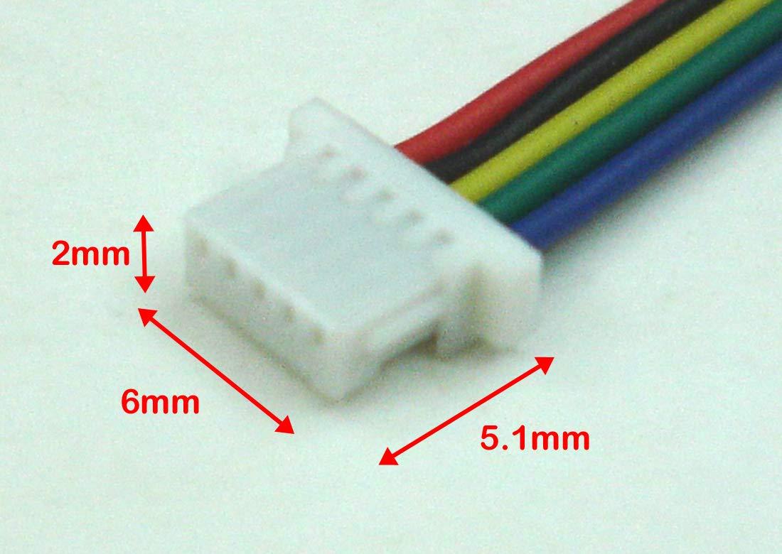 Amazon.com: Mini Micro JST-SH 1.0mm 2,3,4,5,6 Pin Female Connector ...