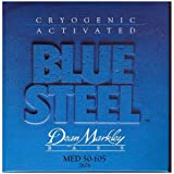 Dean Markley Blue Steel Cryogenic Activated Bass Guitar Strings, 50-110, 2675, Extra Medium
