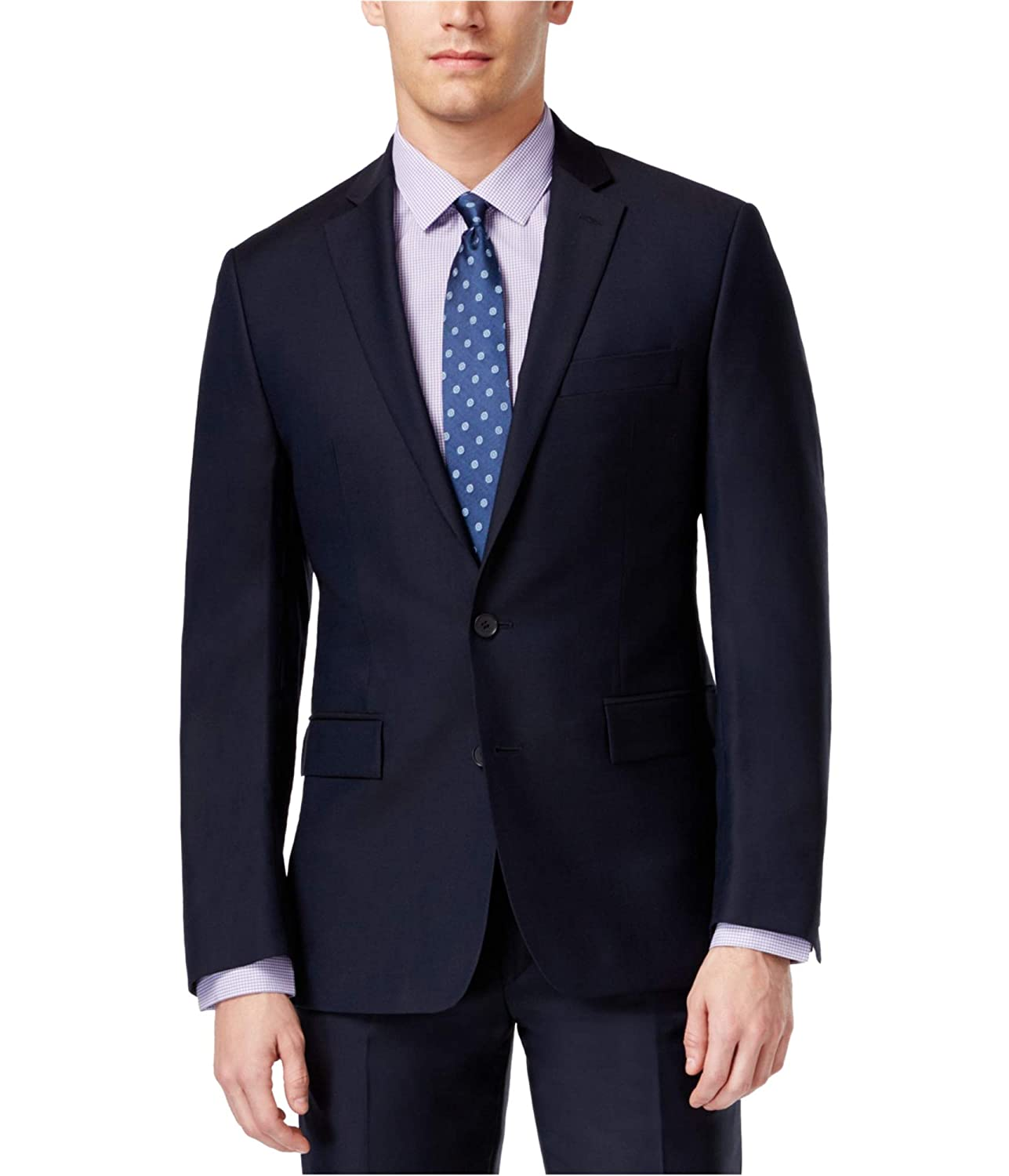 Ryan Seacrest Mens Wool Notch Lapel Two-Button Blazer