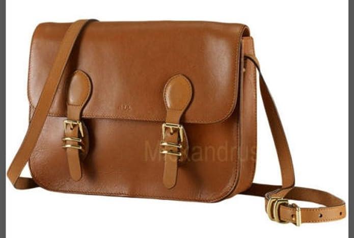 e7ba2d57de Lauren Ralph Lauren Bexley Heath Medium Leather Messenger Crossbody Bag  Handbag  Amazon.ca  Shoes   Handbags