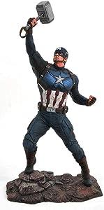 DIAMOND SELECT TOYS Marvel Gallery: Avengers Endgame: Captain America PVC Figure, Multicolor
