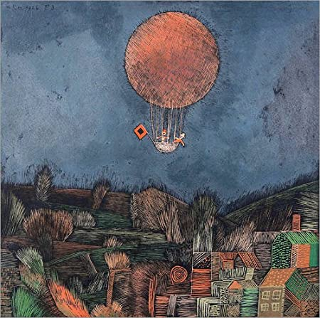 Posterlounge Alu Dibond 30 x 30 cm: The Balloon di Paul Klee