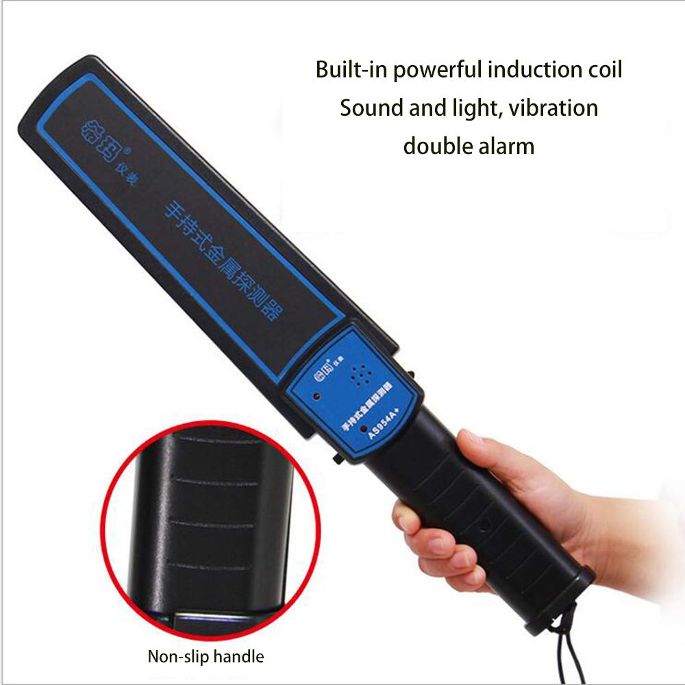 Detector De Seguridad Manual De Varita Con Detector De Metales Con Batería De 9V, Sensibilidad Ajustable, Modos Opcionales De Sonido Y Vibración Para ...