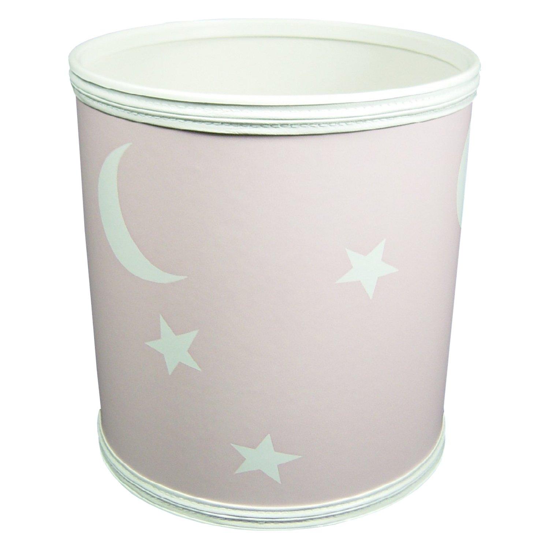 Redmon For Kids Stars And Moons Wastebasket, Pink