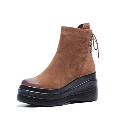 ae7f6c05f68fb Amazon.com: Hy Women's Booties,Suede Fall/Winter Thick Bottom ...