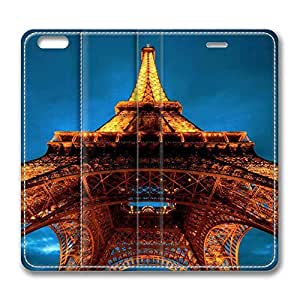 Brain114 5s, iPhone 5s Case, iPhone 5s Case, Paris At Night Eiffel Tower View From Below PU Leather Flip Protective Skin Case for Apple iPhone 5s