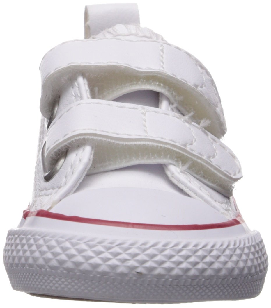 Converse Girl's Chuck Taylor All Star 2V Leather Low Top Shoe, White, 4 M US Toddler by Converse (Image #4)