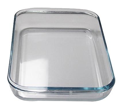 Lovein Pyrex Basics rectangular transparente rectangular de cristal Platos mircowave Bandeja de horno para hornear pizza