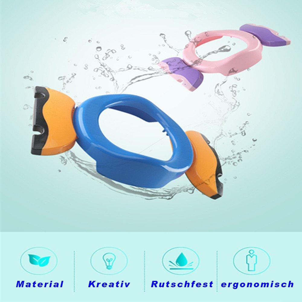 Colleer Si/ège pliable et transportable pour toilettes pour enfants//b/éb/és avec fonction antid/érapante