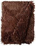 BESSIE AND BARNIE Grizzly Bear Luxury Shag Ultra Plush Faux Fur Pet, Dog, Cat, Puppy Super Soft Reversible Blanket (Multiple Sizes)