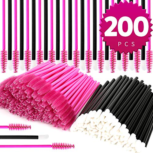 Teenitor Disposable Mascara Wands And Lip brush,