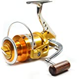Supertrip Full Metal Aluminum Saltwater High Speed Fishing Reels Spinning Gold and Sliver Left/Right
