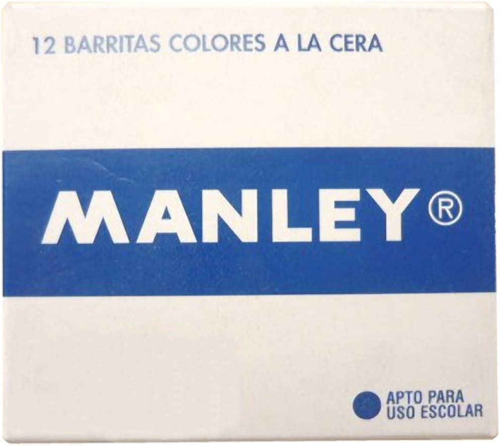 Ceras Manley EST D 12 Negro 30: Amazon.es: Oficina y papelería