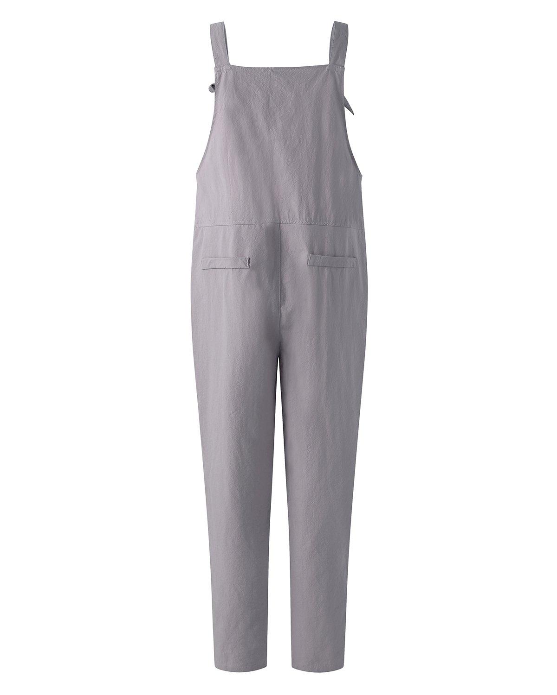 94a486989c5 ZANZEA Women s Retro Loose Casual Baggy Sleeveless Overall Long Jumpsuit  Playsuit Trousers Pants Dungarees ZANZEAATHENAWIN12336