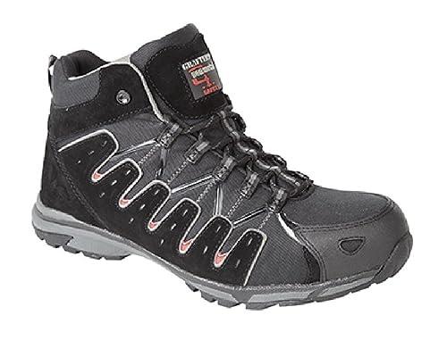Hi de escarificador plantilla Composite – Botas de zapatillas de seguridad negro, color Negro,