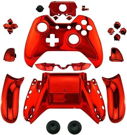 Canamite - Carcasa de repuesto para mando de Xbox One con conector de 3,5 mm rosso: Amazon.es: Electrónica