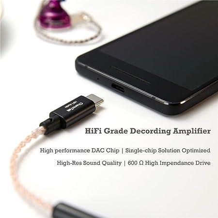 Amplificador de Auriculares portátil USB C Hi-Fi Audio, 32 bits ...