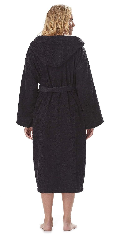 Astra Womens//Mens Hooded Bathrobe 100/% Turkish Terry Cotton Robe