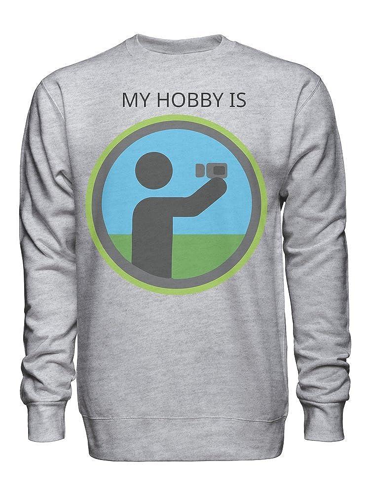 My Hobby is Taking Selfies Unisex Crew Neck Sweatshirt